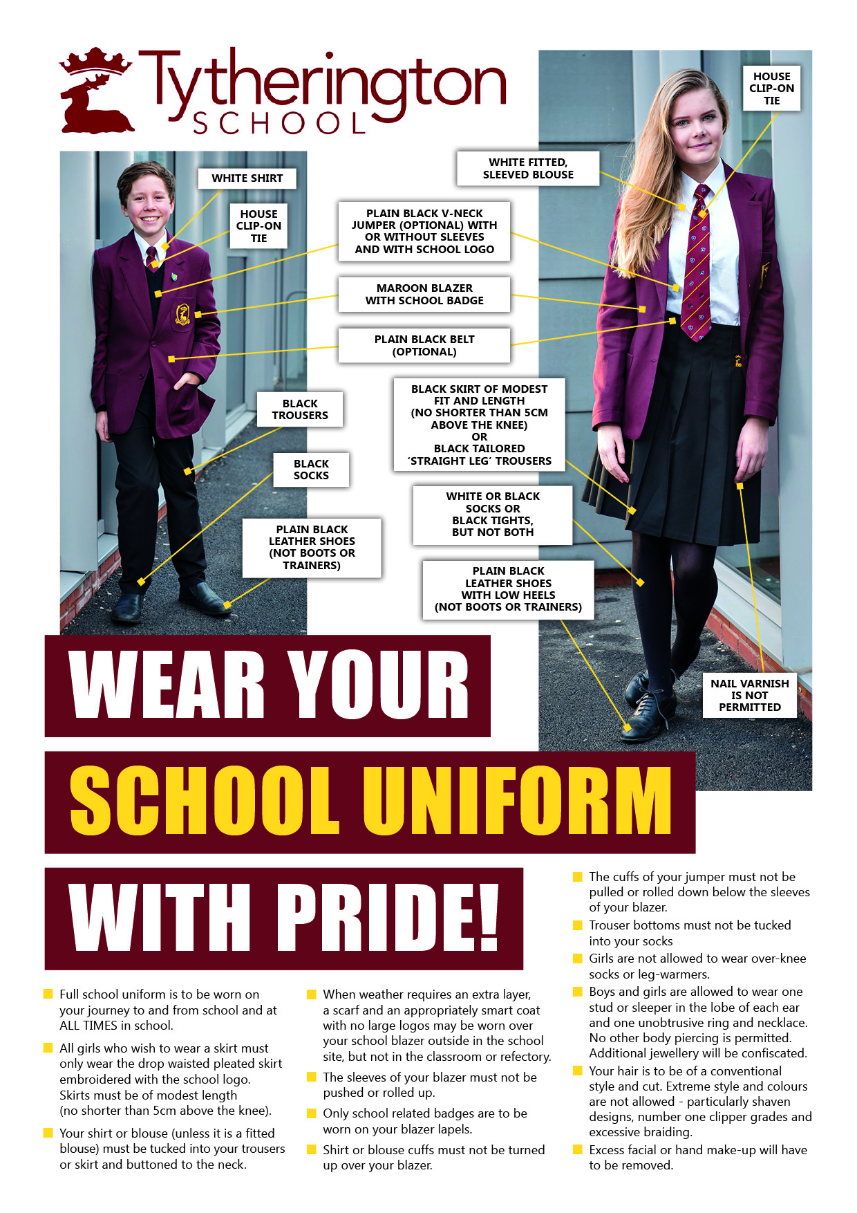 Uniform Poster A4 Updated July 2017