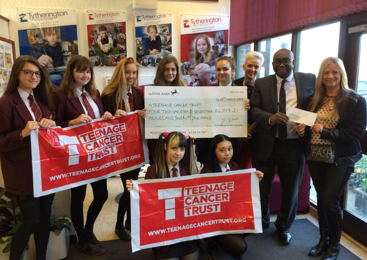 tytherington school students raise thousands for teenage cancer teenage cancer trust pic